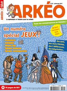 ABONNEMENT ARKEO JUNIOR - 7 A 14 ANS -11 N°-MENSUEL - PAPIER
