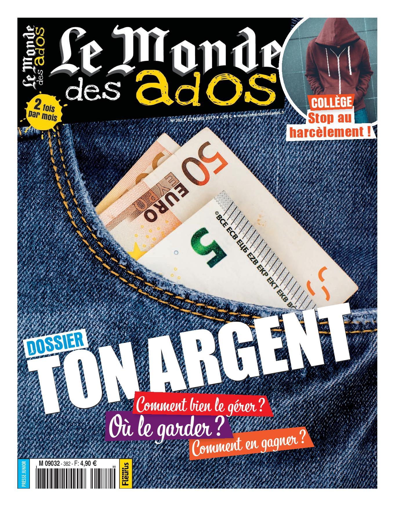 ABONNEMENT LE MONDE DES ADOS - BIMENSUEL - 10 A 14 ANS - 1 AN 22 N? PAPIER