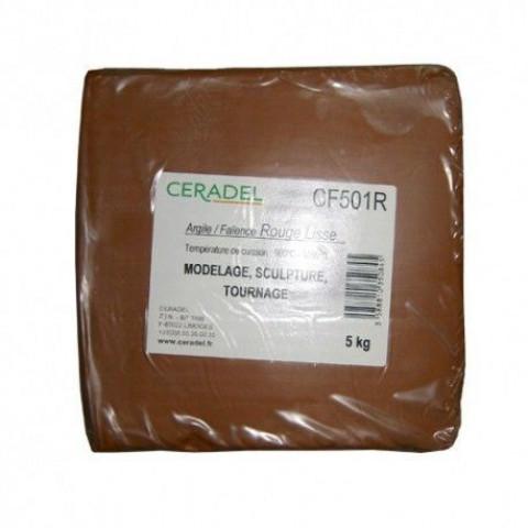 ARGILE NATURELLE LISSE 5 KG - ROUGE