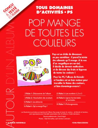 EXPLOIATATION PEDAGOGIQUE - POP MANGE DE TOUTES LES COULEURS