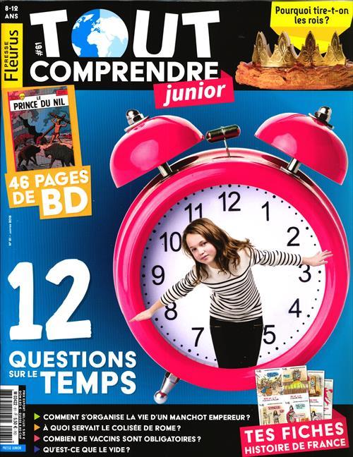 """ABONNEMENT TOUT COMPRENDRE JUNIOR - MENSUEL- 1 AN .11 N° PAPIER - + 2 HS """"histoires vraies"""" + 2 HS"""