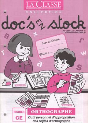 DOC'S EN STOCK ORTHOGRAPHE - CE