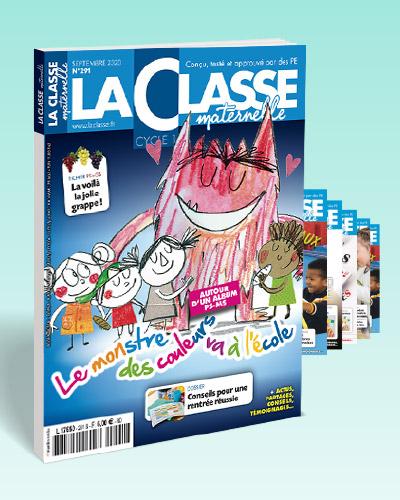 ABONNEMENT UN AN LA CLASSE MATERNELLE FORMULE ESSENTIELLE(REVUE PAPIER+ACCES LA CLASSE.FR)