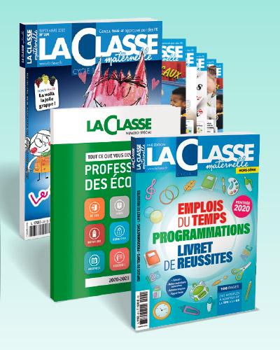 ABONNEMENT UN AN LA CLASSE MATERNELLE FORMULE INTEGRALE(REVUE PAPIER+2HORS SERIE+ACCES LA CLASSE.FR)