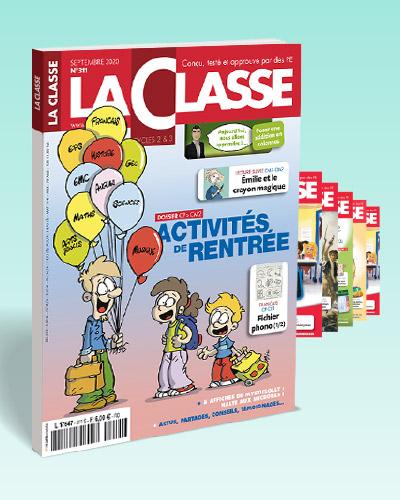 ABONNEMENT UN AN LA CLASSE FORMULE ESSENTIELLE(REVUE PAPIER+ACCES LA CLASSE.FR)