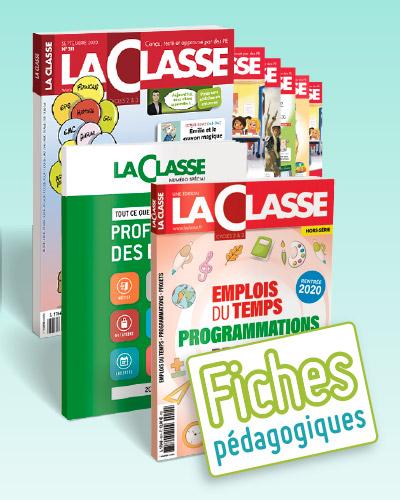 ABONNEMENT 1 AN LA CLASSE PREMIUM(REVUE PAPIER+2H.S+CLASSE.FR+ACCES ILLIMITE FICHES PEDAGOGIQUE.COM)