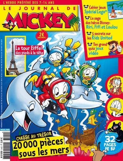 ABONNEMENT LE JOURNAL DE MICKEY - 7 / 14 ANS - 1 AN  52 N° PAPIER